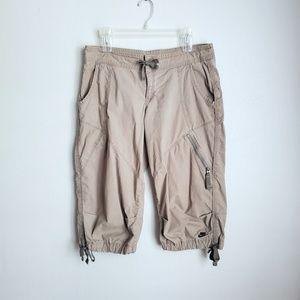 Nike Cargo Capri Drawstring Pants Tan Medium